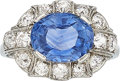 Estate Jewelry:Rings, Art Deco Sapphire, Diamond, Platinum Ring The ...