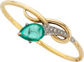 Estate Jewelry:Bracelets, Emerald, Diamond, Gold Bracelet . ...