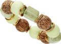 Estate Jewelry:Bracelets, Multi-Stone, Wood, Gold Bracelet, Donna Vock. ...