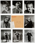 "Movie/TV Memorabilia:Photos, A James Cagney Group of Black and White Stills from ""Man of aThousand Faces.""..."