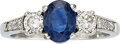 Estate Jewelry:Rings, Sapphire, Diamond, Platinum Ring The ring feat...