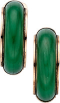 Estate Jewelry:Earrings, Jadeite Jade, Gold Earrings The earrings featu...