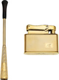 Estate Jewelry:Other, Gold Lighter & Cigarette Holder . ... (Total: 2 Items)