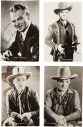 Movie/TV Memorabilia:Autographs and Signed Items, A James Cagney Group of Small Signed Black and White Photographs, Circa 1930s....