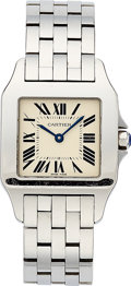 Estate Jewelry:Watches, Cartier Lady's Stainless Steel Santos Demoiselle Watch. ...
