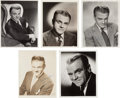 Movie/TV Memorabilia:Autographs and Signed Items, A James Cagney Group of Signed Black and White Photographs,1940s-1960....