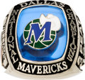 Baseball Collectibles:Others, 1999 Dallas Mavericks National Wheelchair Basketball Association (NWBA) Champions Ring....