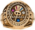 Baseball Collectibles:Others, 1955 New York Yankees American League Champions Salesman's Sample Ring. ...
