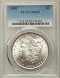 Morgan Dollars: , 1883 $1 MS65 PCGS. PCGS Population: (4656/1243). NGC Census: (4054/956). CDN: $130 Whsle. Bid for problem-free NGC/PCGS MS6...