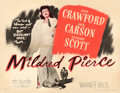 "Movie Posters:Film Noir, Mildred Pierce (Warner Brothers, 1945). Half Sheet (22"" X 28"")Style B.. ..."
