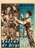 """Movie Posters:Foreign, The Bicycle Thieves (Pathe Consortium, 1949). French Moyenne (23.25"""" X 31.75"""").. ..."""