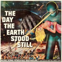 "The Day the Earth Stood Still (20th Century Fox, 1951). Six Sheet (79.5"" X 80.25"")"