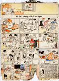 Original Comic Art:Miscellaneous, Richard F. Outcault Buster Brown Sunday Comic Strip ColorGuide Production Art Original Art (Newspaper Feature Ser...