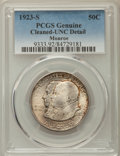 1923-S 50C Monroe -- Cleaned -- PCGS Genuine. UNC. NGC Census: (12/3470). PCGS Population: (29/3958). CDN: $65 Whsle. Bi...