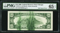 Error Notes:Ink Smears, Green Ink Smears on Back Error Fr. 2018-G $10 1969 Federal ReserveNote. PMG Gem Uncirculated 65 EPQ.. ...