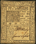 Colonial Notes:Delaware, Delaware January 1, 1776 10s Choice About New.. ...