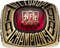 Football Collectibles:Others, 1998 Rhein Fire NFL Europe Champions Ring Presented to Tim Denton....