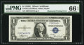 Error Notes:Obstruction Errors, Partially Obstructed Right Serial Number Error Fr. 1612 $1 1935CSilver Certificate. PMG Gem Uncirculated 66 EPQ.. ...
