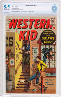 Western Kid #16 (Atlas, 1957) CBCS VF+ 8.5 Off-white to white pages