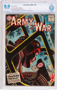 Our Army at War #70 (DC, 1958) CBCS VF 8.0 Off-white to white pages