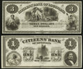 Obsoletes By State:Louisiana, New Orleans, LA - Citizens' Bank of Louisiana $1; $3 18__ Remainders. ... (Total: 2 notes)