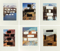 Ed Ruscha (b. 1937) Country Cityscapes, portfolio of six works, 2001 Photogravures with screenprint