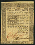 Colonial Notes:Pennsylvania, Pennsylvania October 25, 1775 20s Extremely Fine.. ...