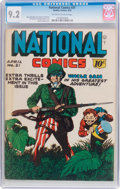 Golden Age (1938-1955):War, National Comics #31 (Quality, 1943) CGC NM- 9.2 Off-white to whitepages....