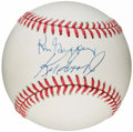 Autographs:Baseballs, Ken Griffey Jr. and Ken Griffey Sr. Multi-Signed Baseball....