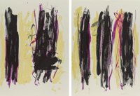 Joan Mitchell (1926-1992) Trees III, diptych, 1992 Lithographs in colors on wove paper 57 x 41 in