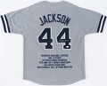 Autographs:Jerseys, Reggie Jackson Signed New York Yankees Jersey....