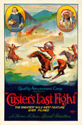 "Movie Posters:Western, Custer's Last Fight (Quality Amusement, R-1925). One Sheet (27"" X40.5"").. ..."