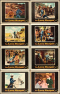 """Movie Posters:Western, The Lone Ranger (Warner Brothers, 1956). Lobby Card Set of 8 (11"""" X 14"""").. ... (Total: 8 Items)"""