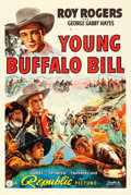 "Movie Posters:Western, Young Buffalo Bill (Republic, 1940). One Sheet (27"" X 41"").. ..."