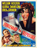 "Movie Posters:Film Noir, Sunset Boulevard (Paramount, 1950). Trimmed Belgian (14.25"" X18.25"").. ..."
