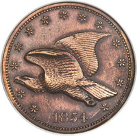 1854 P1C Flying Eagle Cent, Judd-164 Original, Pollock-189, R.5 -- Cleaned, Lacquered -- ANACS. Net PR50....(PCGS# 11678...