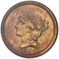 Patterns, 1854 P1C One Cent, Judd-161 Original, Pollock-187, R.4, PR60 Red and Brown ANACS....
