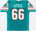 Football Collectibles:Uniforms, Larry Little Signed Miami Dolphins Jersey....