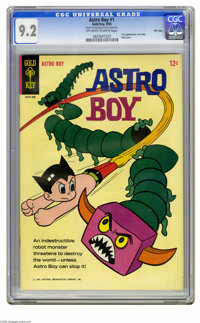 Astro Boy #1 File Copy (Gold Key, 1965) CGC NM- 9.2 Off-white to white pages. The first appearance of Astro Boy in comic...