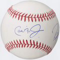 Autographs:Baseballs, Cal Ripken Jr. and Ray Lewis Multi-Signed Baseball....