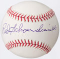 Autographs:Baseballs, Red Schoendienst Single Signed Baseball, PSA Gem Mint 10....