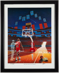 "Basketball Collectibles:Others, 1994 Michael Jordan ""When the Loudest Cheer Stopped"" Lithograph...."