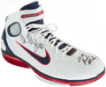 Basketball Collectibles:Others, Udonis Haslem Signed Miami Heat Shoe....