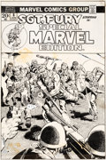 Original Comic Art:Covers, John Severin Special Marvel Edition #8 Sgt. Fury CoverOriginal Art (Marvel, 1973)....