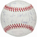 Autographs:Baseballs, 1983 Baltimore Orioles Reunion Team Signed Baseball (28Signatures)....