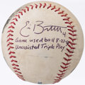 Autographs:Baseballs, 2009 Eric Bruntlett Single Signed Game Used Baseball - UnassistedTriple Play....