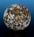 Meteorites:Palasites, Seymchan Sphere - Pallasitic Meteorite Fashioned into Perfect Sphere. Pallasite - PMG . Magadan District, Russia . ...