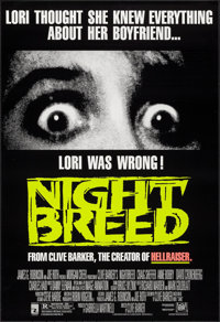 "Night Breed & Other Lot (20th Century Fox, 1990). One Sheet (27"" X 41""). Horror. ... (Total: 2 Items)"