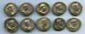 Ancients:Ancient Lots  , Ancients: GROUP LOTS. Roman Imperial. Lot of ten (10) Hadrian (AD117-138) AR denarii. Fine-VF. ... (Total: 10 coins)