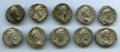 Ancients:Ancient Lots  , Ancients: GROUP LOTS. Roman Imperial. Lot of ten (10) Commodus (AD166-192) AR denarii. Fine-Choice VF. ... (Total: 10 coins)